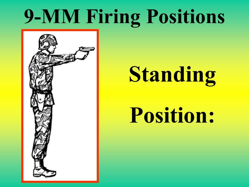 9-MM Firing Positions Pistol Ready Position: