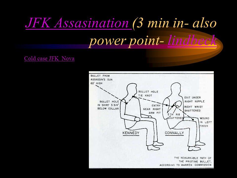JFK Assasination JFK Assasination (3 min in- also power point- lindbecklindbeck Cold case JFK Nova