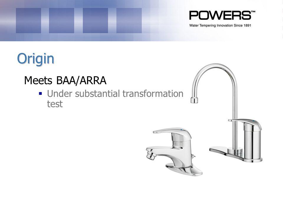 Origin Meets BAA/ARRA Under substantial transformation test