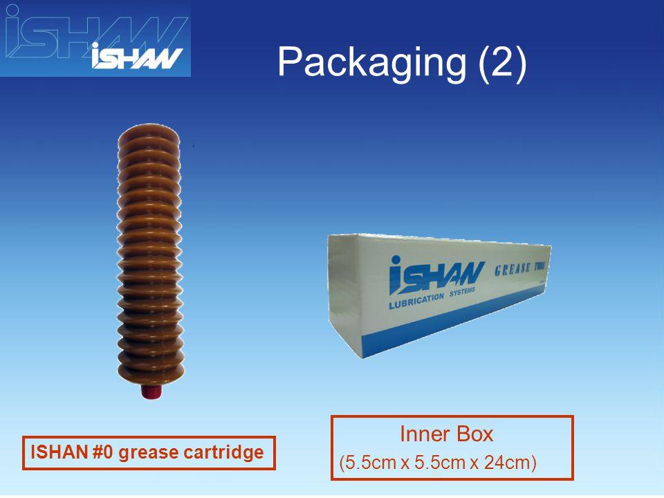 Packaging (2) ISHAN #0 grease cartridge Inner Box (5.5cm x 5.5cm x 24cm)
