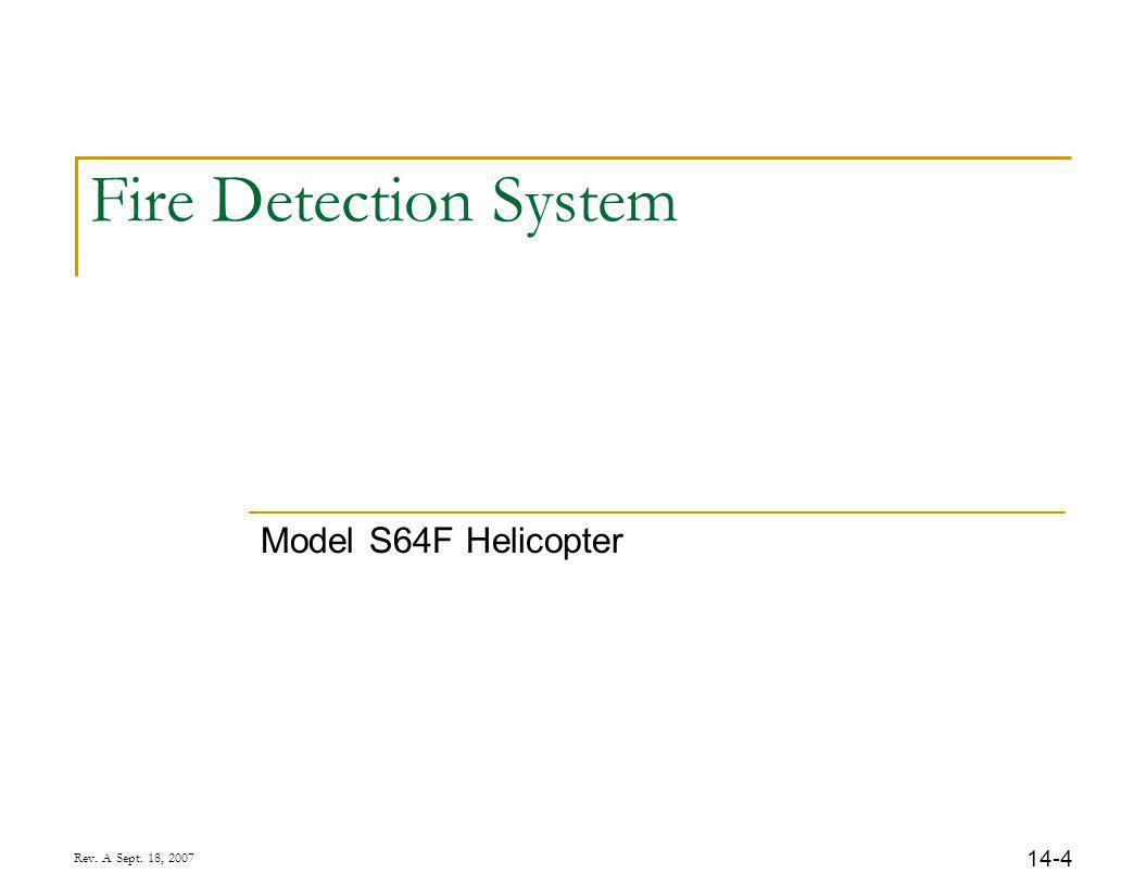 14-4 Rev. A Sept. 18, 2007 Fire Detection System Model S64F Helicopter
