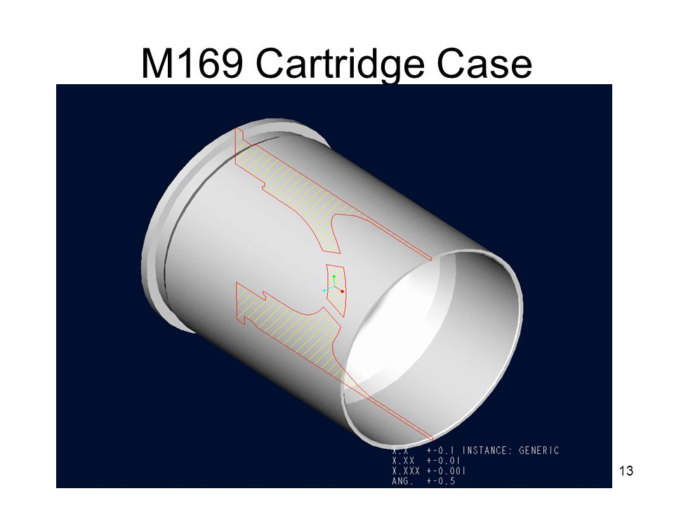 13 M169 Cartridge Case