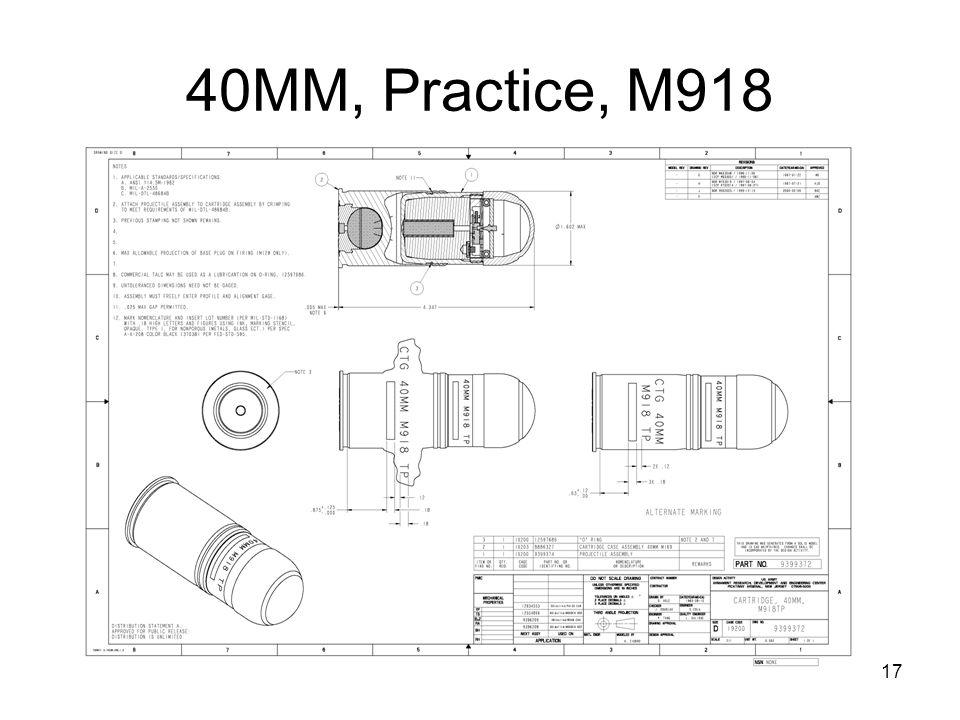 17 40MM, Practice, M918