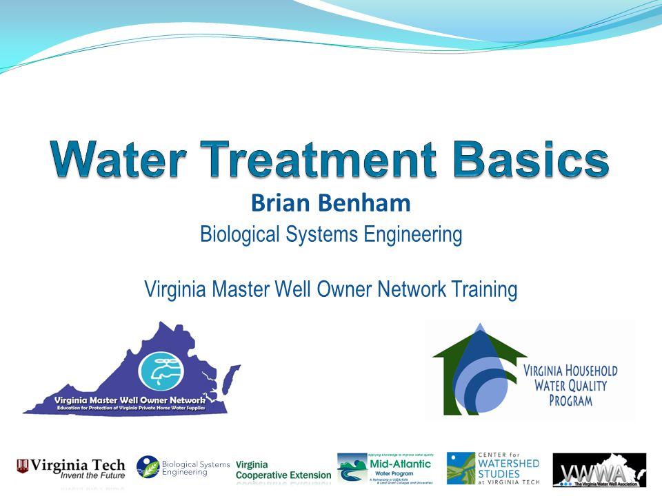 Brian Benham Biological Systems Engineering Virginia Master Well Owner Network Training