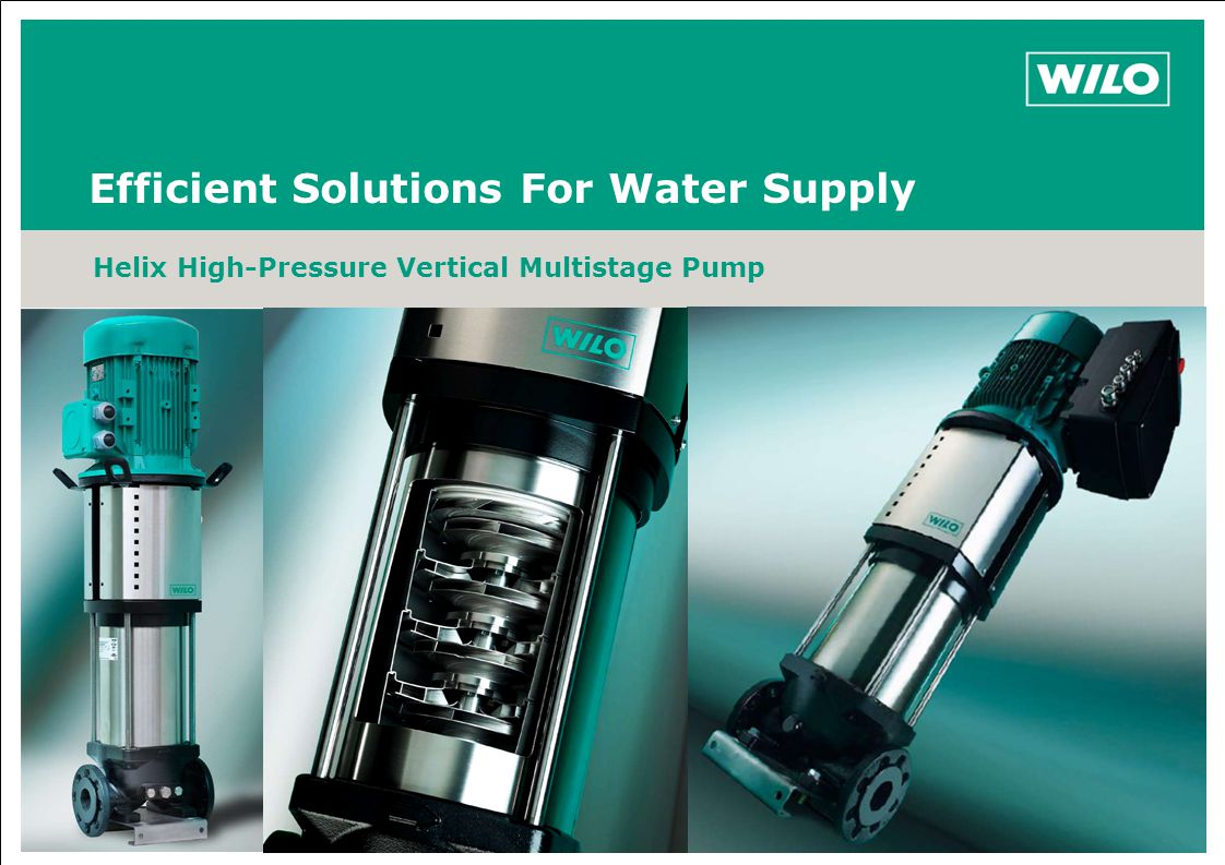 Efficient Solutions For Water Supply Helix High-Pressure Vertical Multistage Pump