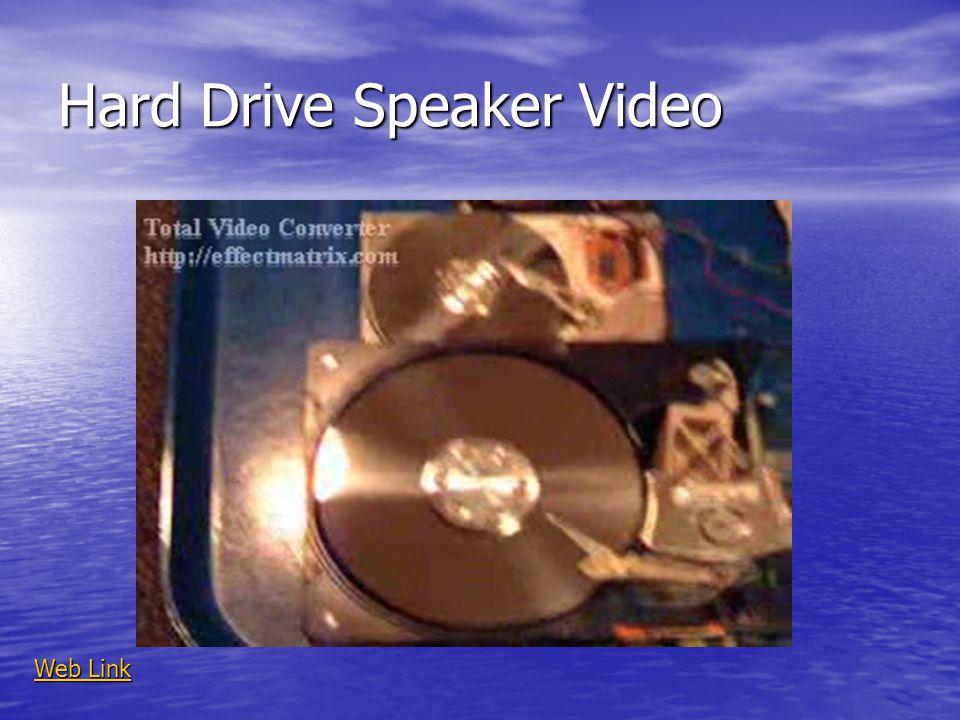Hard Drive Speaker Video Web Link Web Link