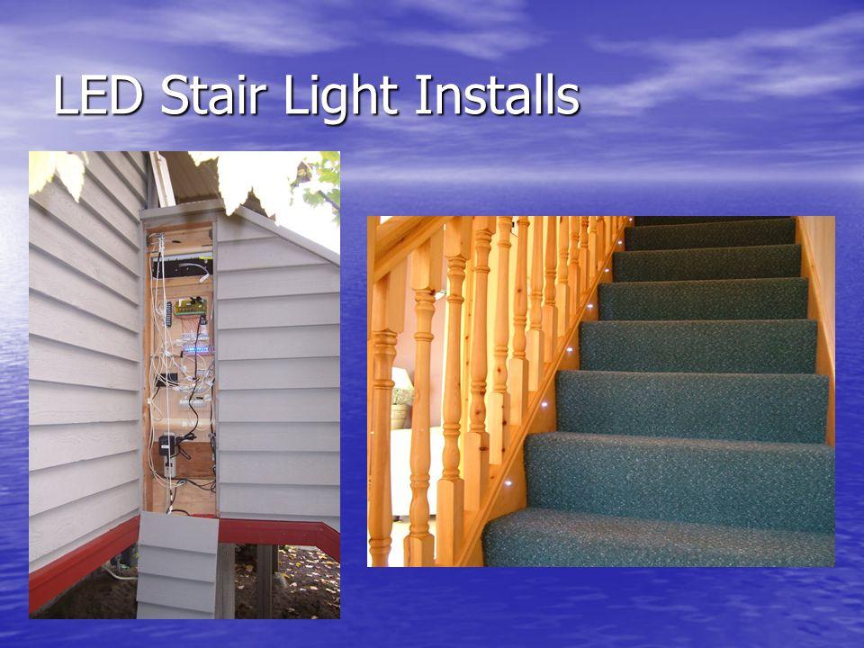 LED Stair Light Installs