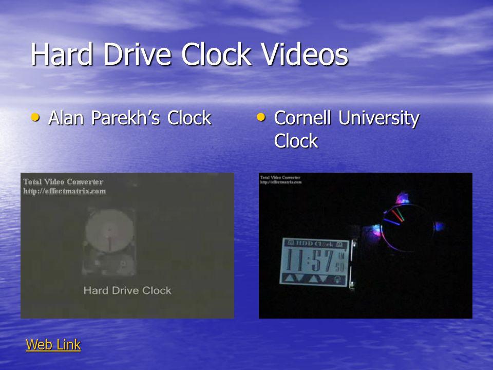 Hard Drive Clock Videos Alan Parekhs Clock Alan Parekhs Clock Cornell University Clock Cornell University Clock Web Link Web Link