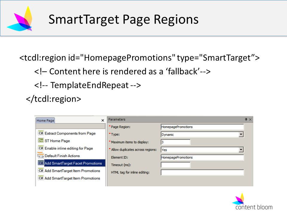 SmartTarget Page Regions