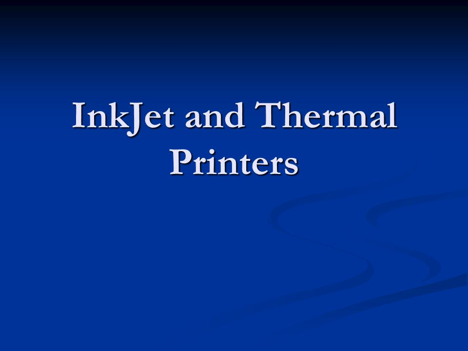 Thermal Printing Two Types Two Types Direct Thermal Printer Direct Thermal Printer Thermal Wax Transfer Thermal Wax Transfer