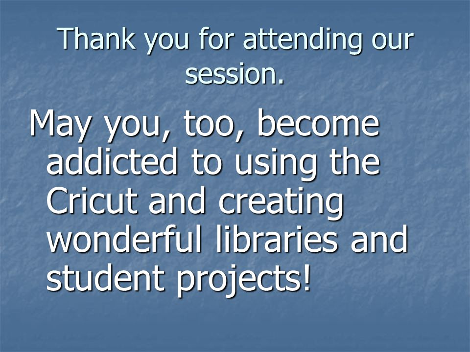 Thank you for attending our session.