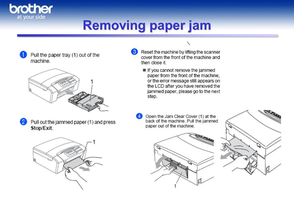 Removing paper jam