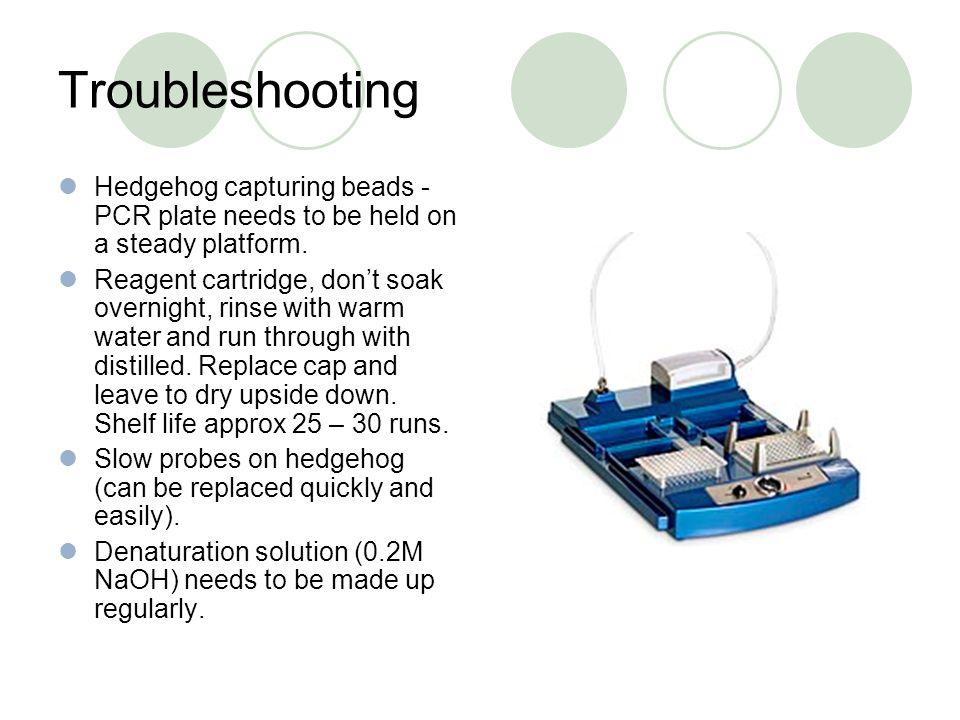 Troubleshooting Hedgehog capturing beads - PCR plate needs to be held on a steady platform.