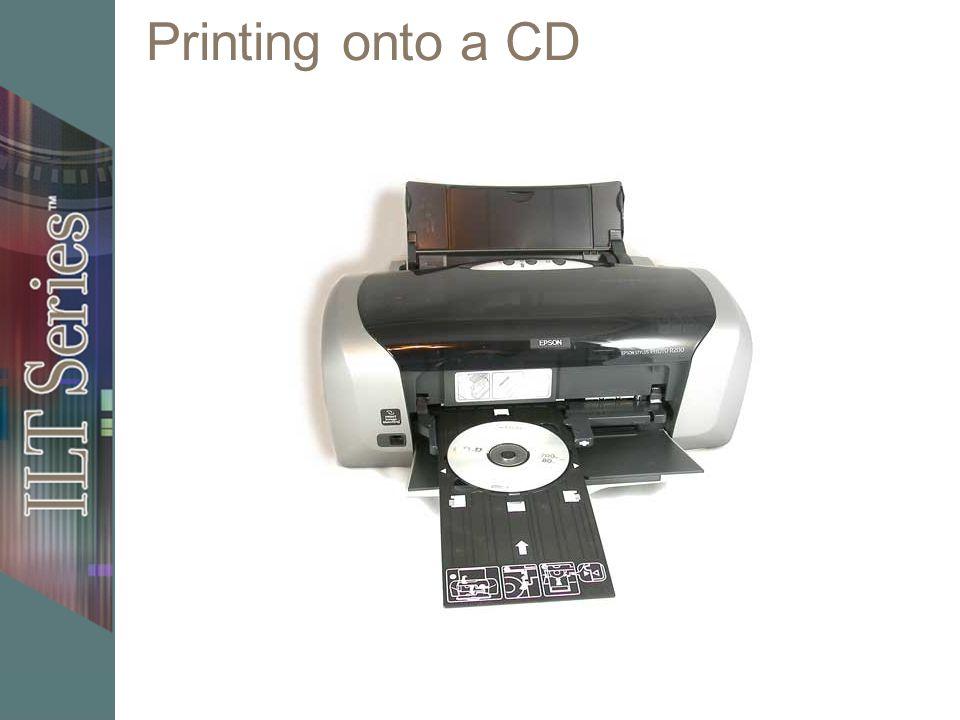 Printing onto a CD