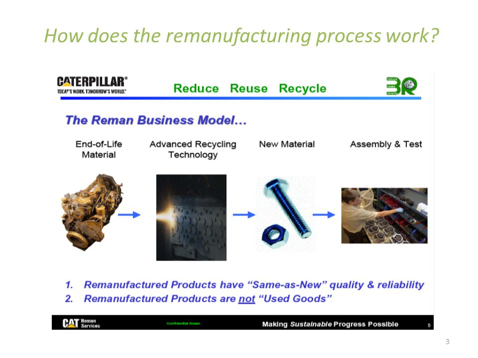 3 How does the remanufacturing process work?
