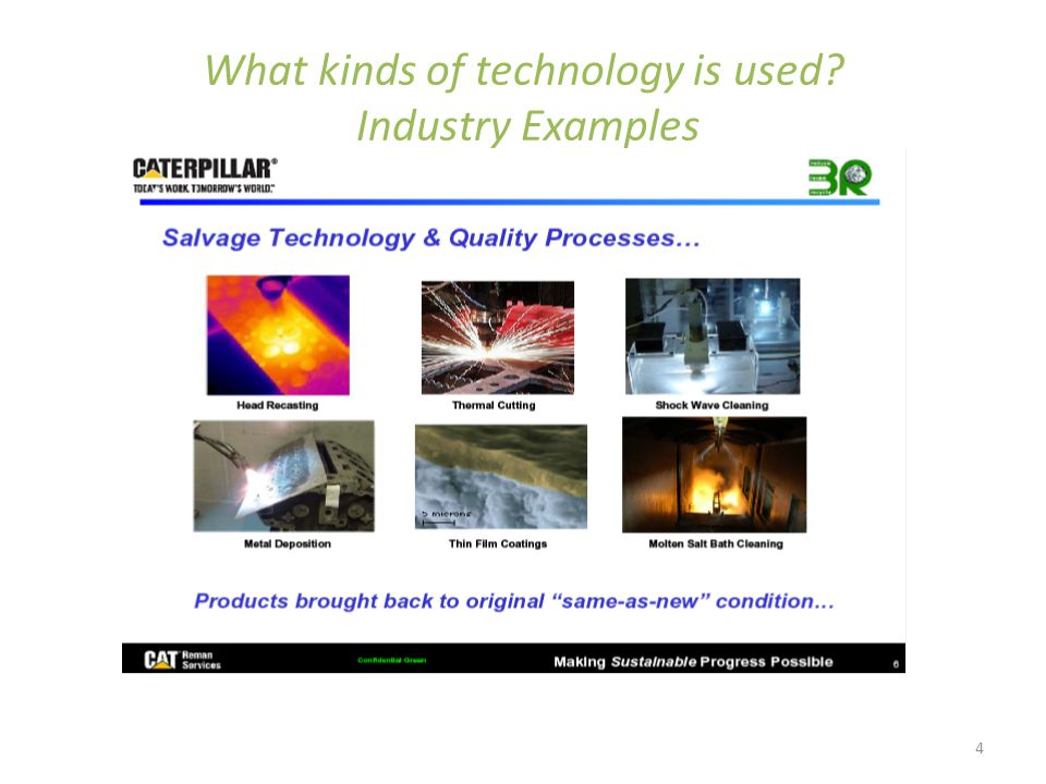 4 What kinds of technology is used Industry Examples