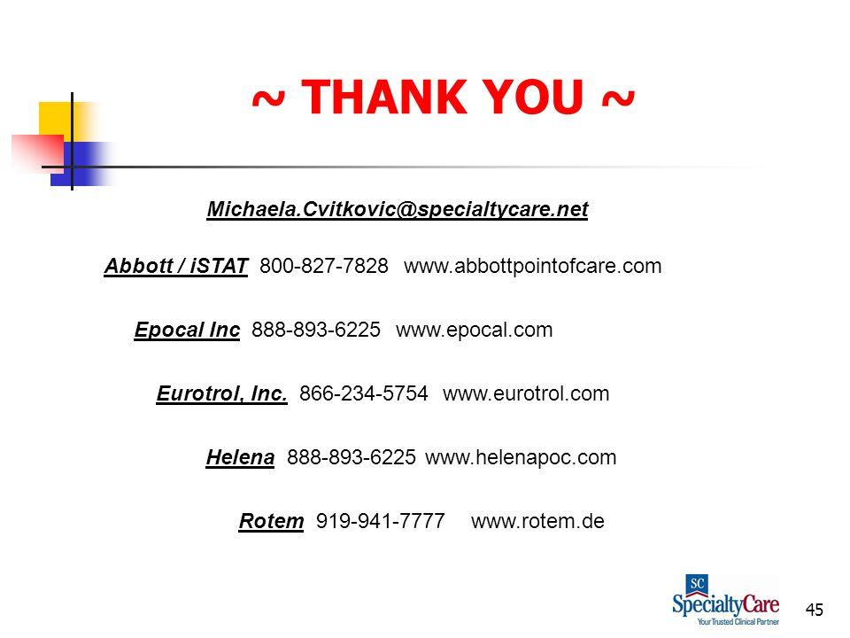45 ~ THANK YOU ~ Eurotrol, Inc.