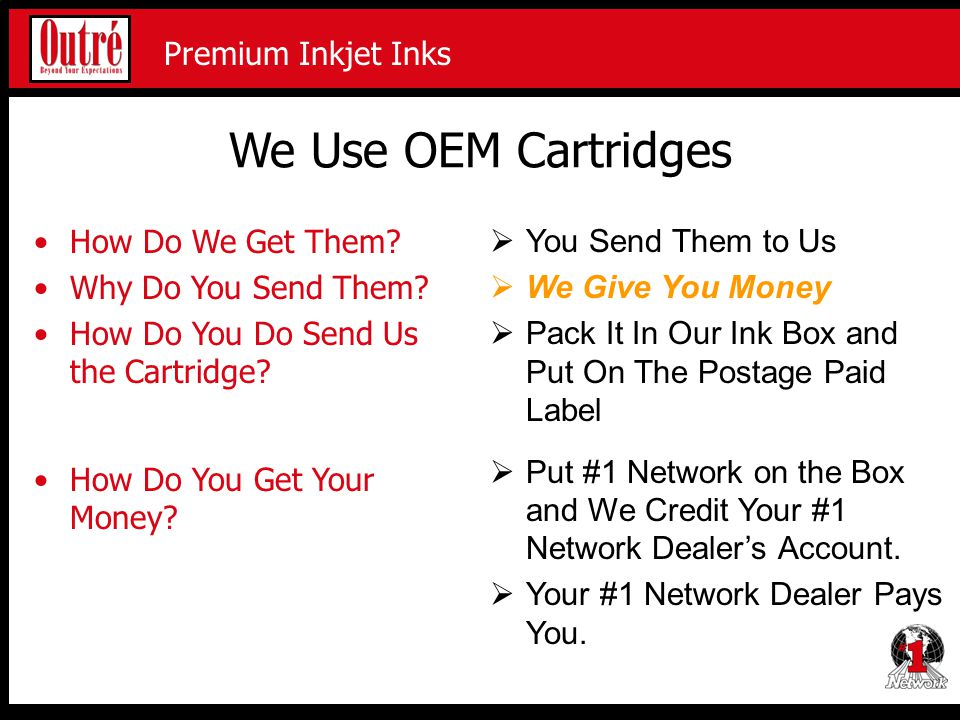 Premium Inkjet Proofing Media Premium Inkjet Inks We Use OEM Cartridges How Do We Get Them.