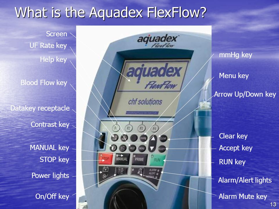 13 What is the Aquadex FlexFlow.