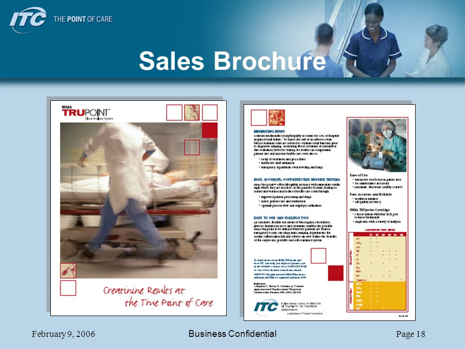 February 9, 2006Business ConfidentialPage 18 Sales Brochure