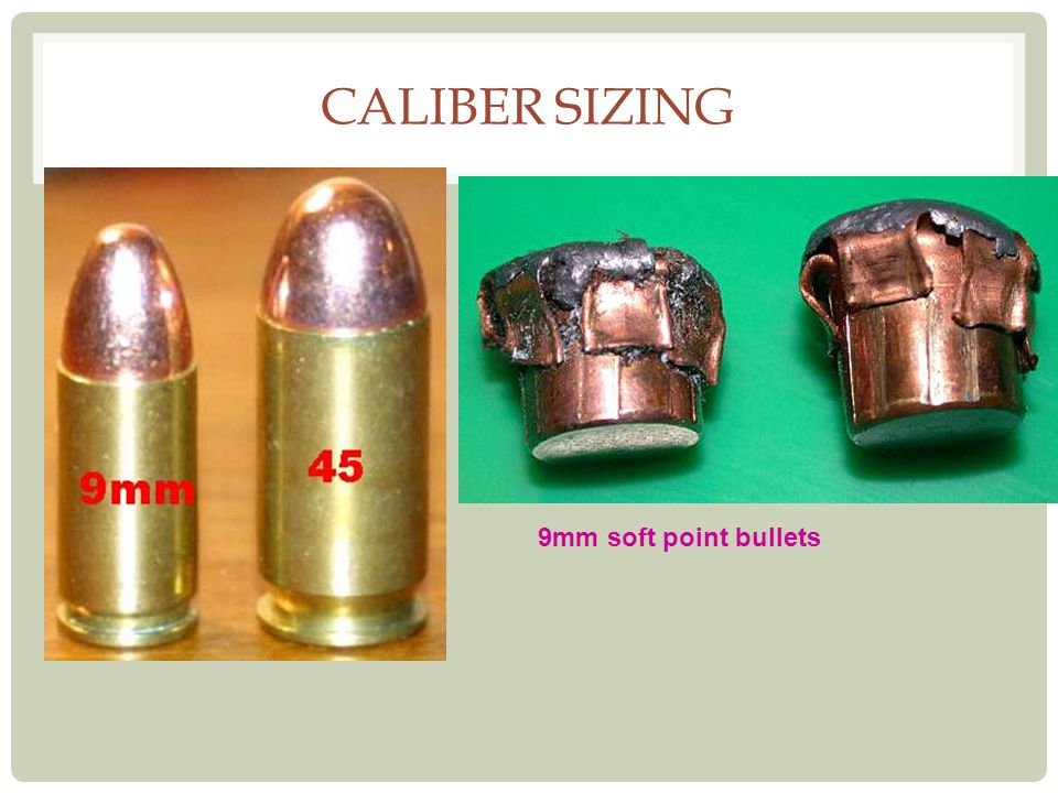 CALIBER SIZING 9mm soft point bullets