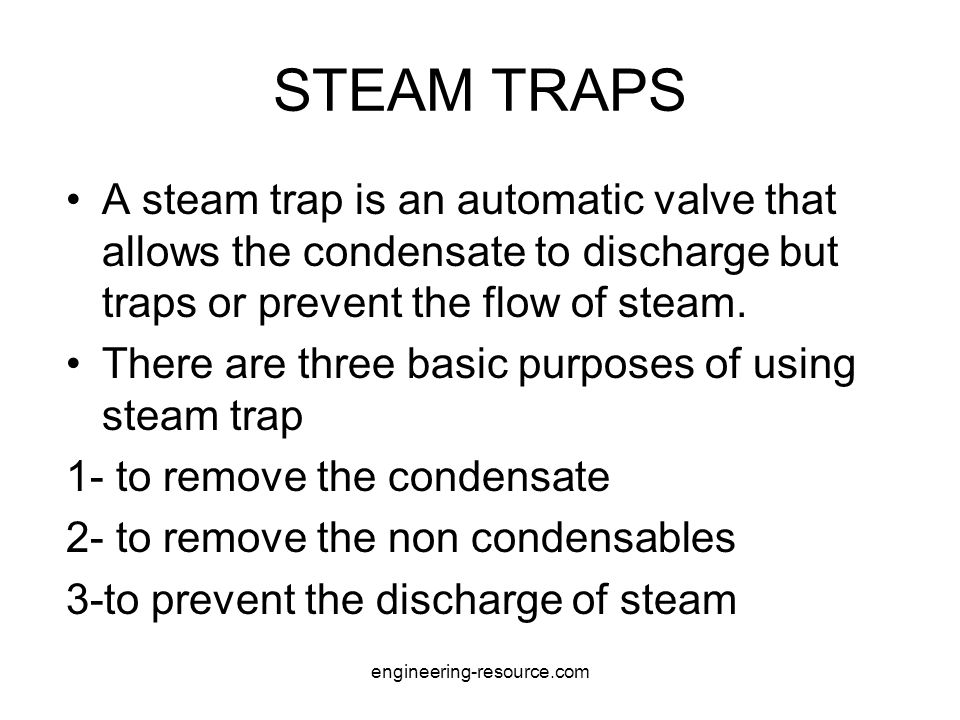 Continue Float and thermostatic trap is fitted with thermostatically regulated vent above the condensate level.