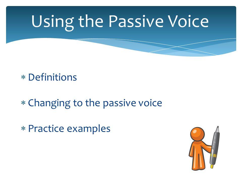 Active voice vs.