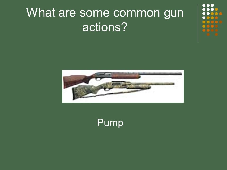What are some common gun actions? Lever