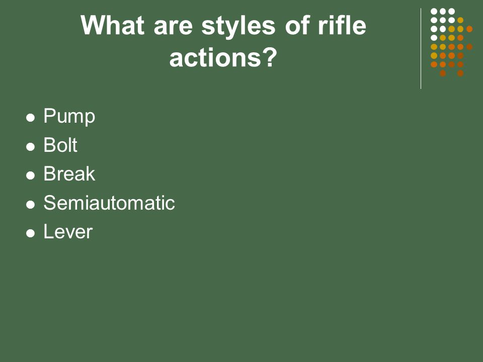 What are modern firearms? Rifles and cartridges