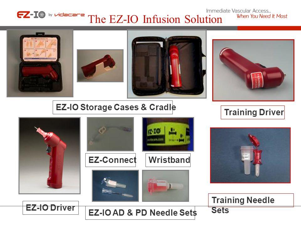 The EZ-IO Infusion Solution EZ-IO AD & PD Needle Sets Training Needle Sets EZ-IO Storage Cases & Cradle EZ-IO Driver EZ-Connect Training Driver Wristb