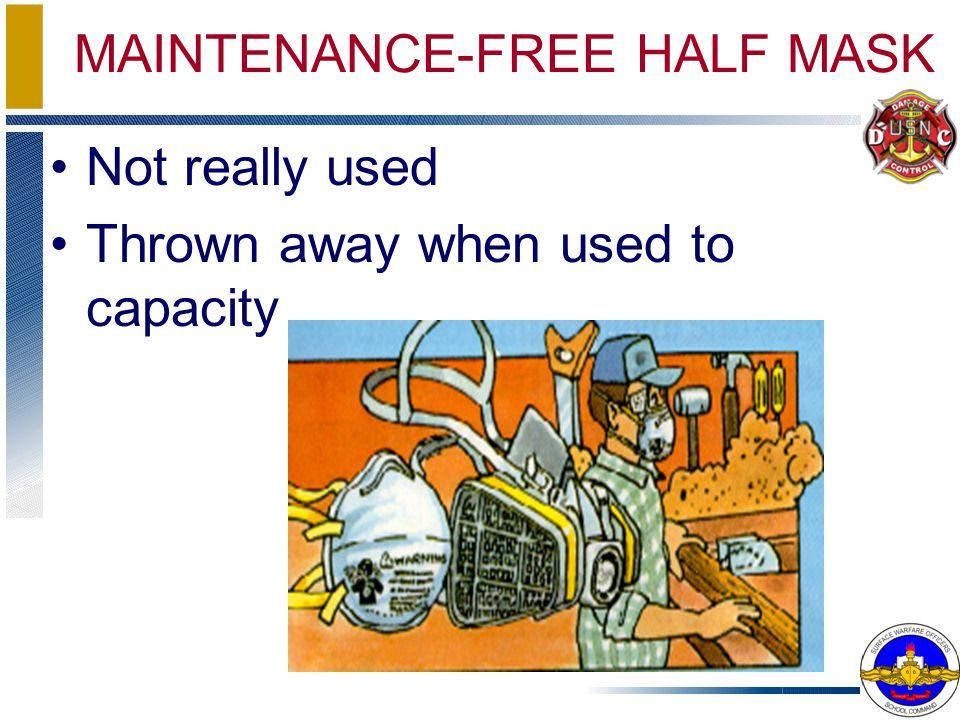 MAINTENANCE-FREE HALF MASK Not really used Thrown away when used to capacity