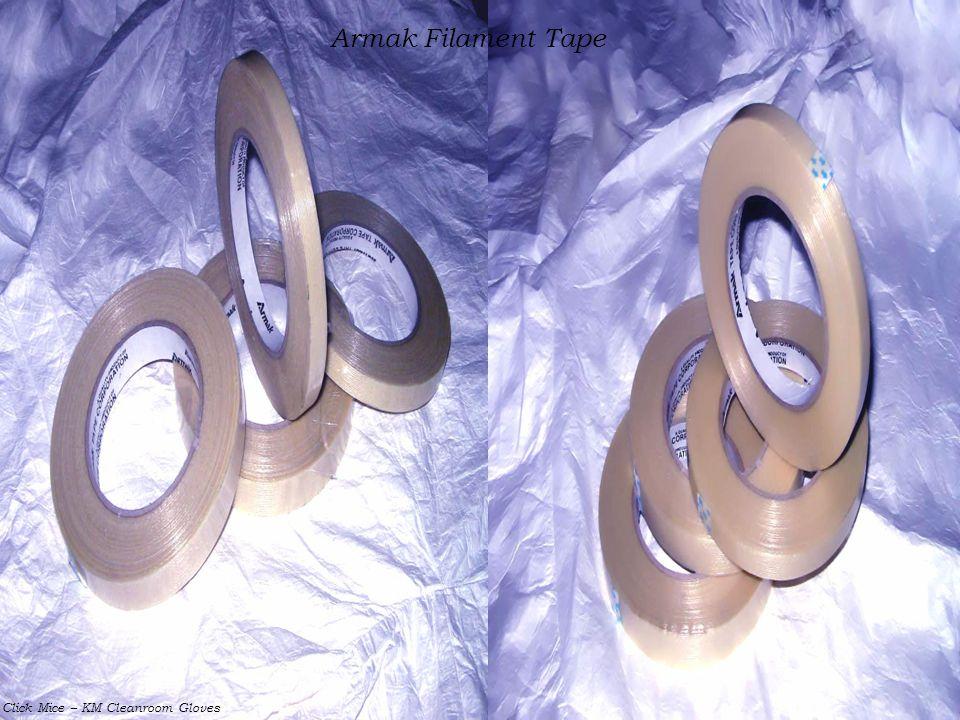Click Mice – KM Cleanroom Gloves Armak Filament Tape