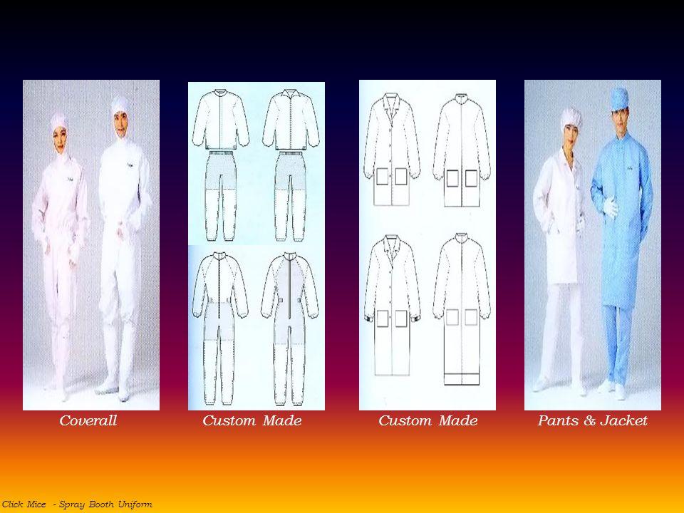 Click Mice - Spray Booth Uniform CoverallPants & Jacket Custom Made