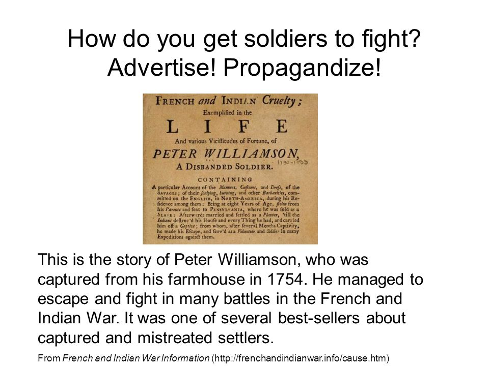 This is the story of Peter Williamson, who was captured from his farmhouse in 1754.