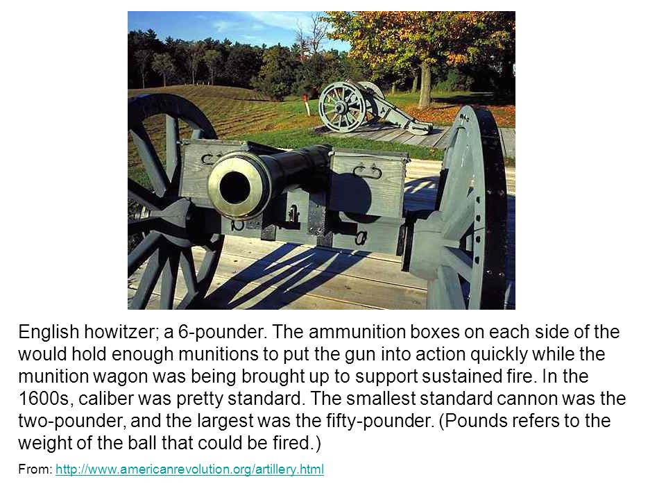 English howitzer; a 6-pounder.