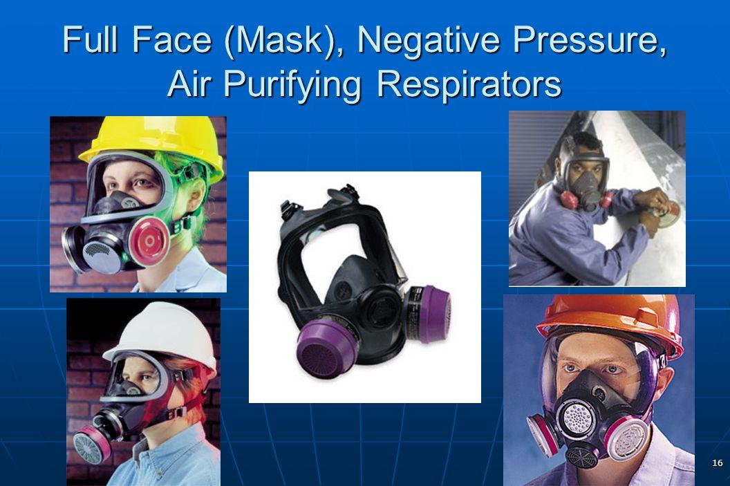 16 Full Face (Mask), Negative Pressure, Air Purifying Respirators
