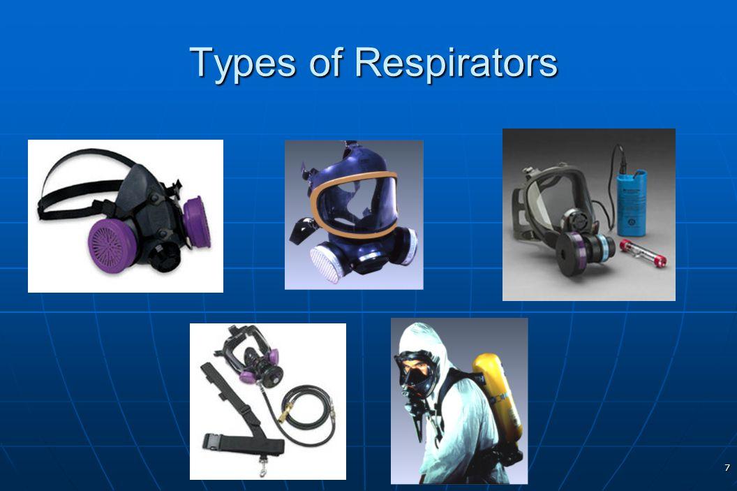 7 Types of Respirators Types of Respirators.