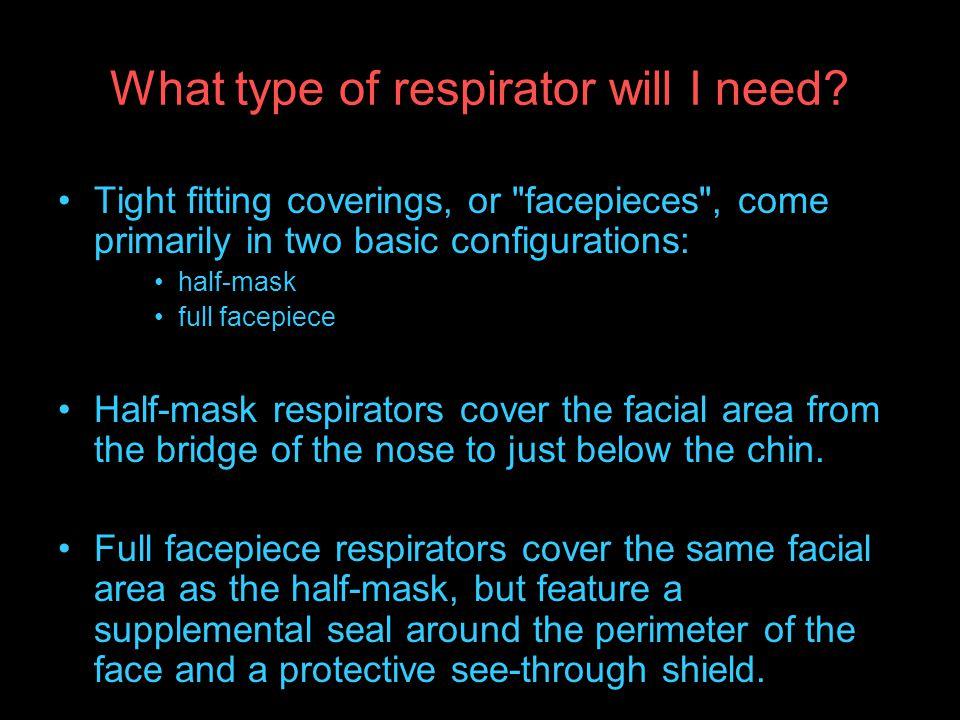 What type of respirator will I need.