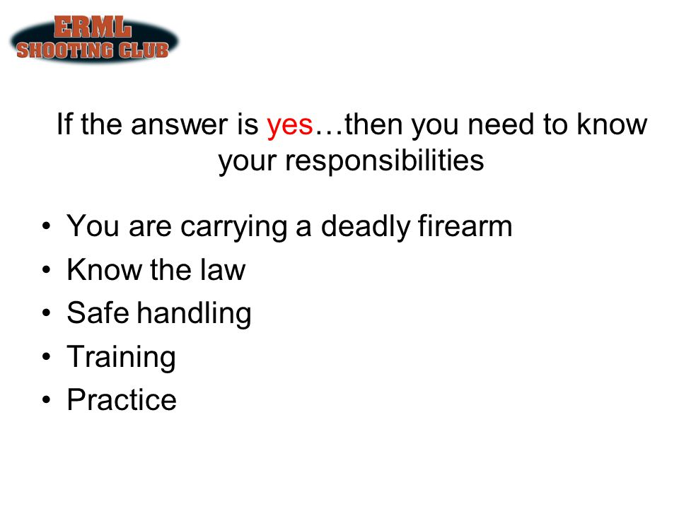 Law and Firearms