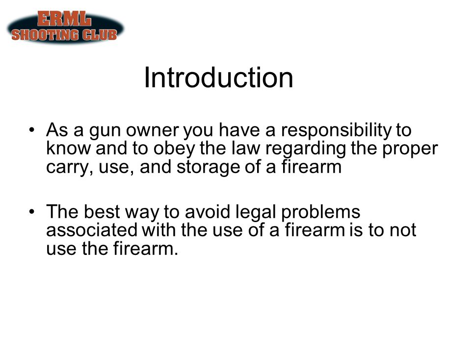 In your home At Your business In your vehicle At a shooting event/range While hunting While camping or fishing provided that State and Federal laws are complied with While transporting to and from a gun store You may possess a firearm: Lawful Use Without a License