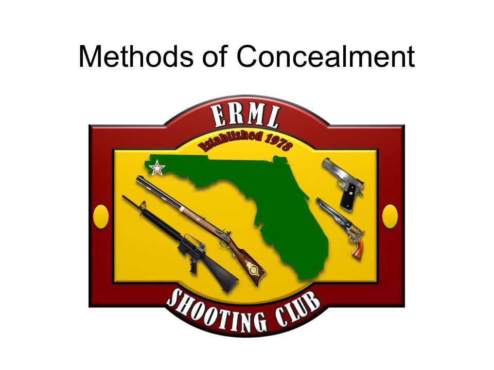 Methods of Concealment