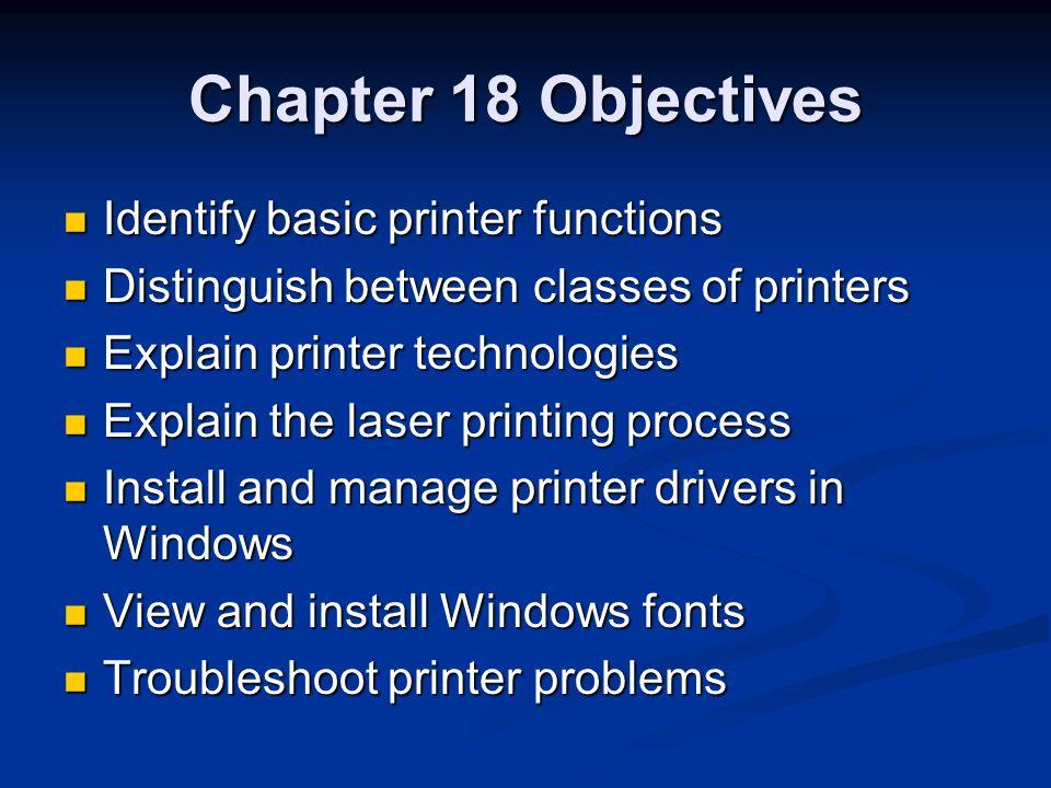 Summary of Types Dot Matrix InkjetLaser InkRibbonLiquidToner Paper feed Tractor-fedSheet-fedSheet-fed Line or Page LineLinePage Impact or Non-Impact ImpactNon-impactNon-impact ColorNoYesSome
