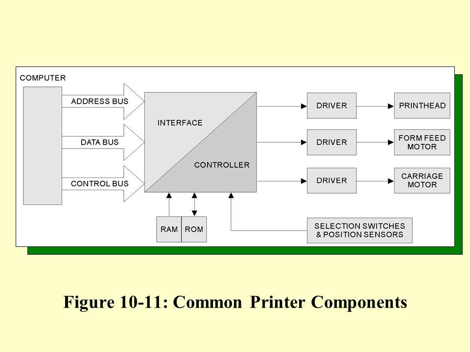 Figure 10-11: Common Printer Components