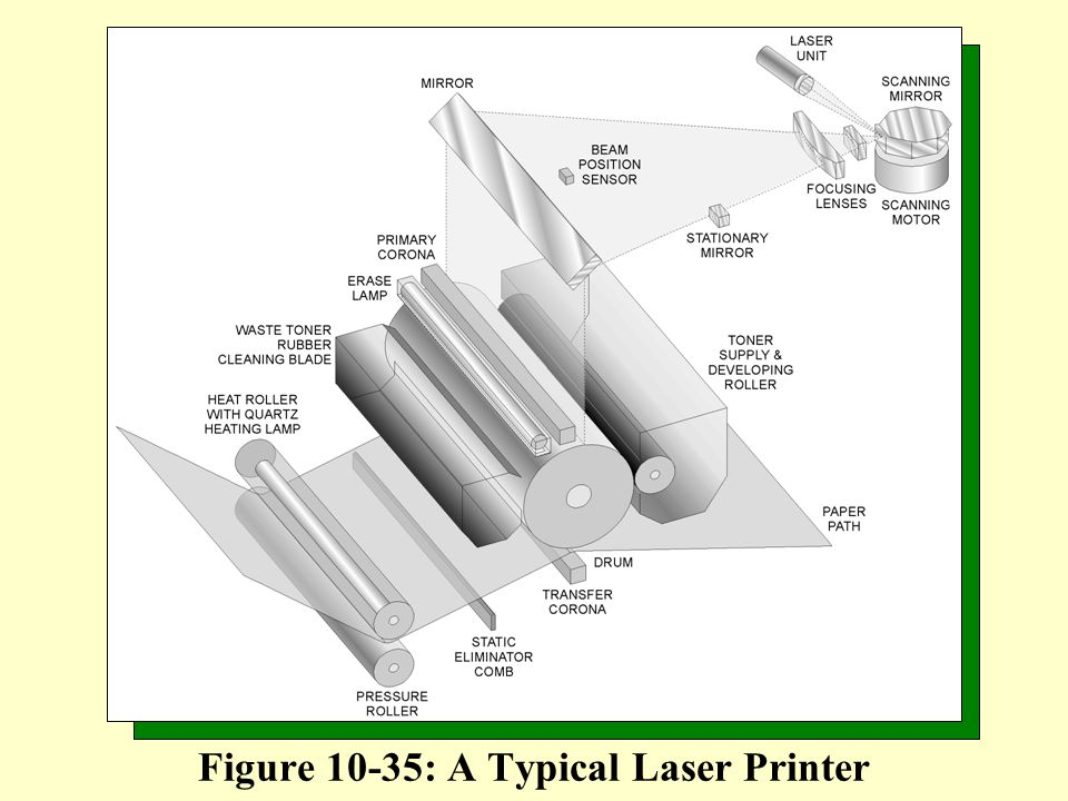 Figure 10-35: A Typical Laser Printer