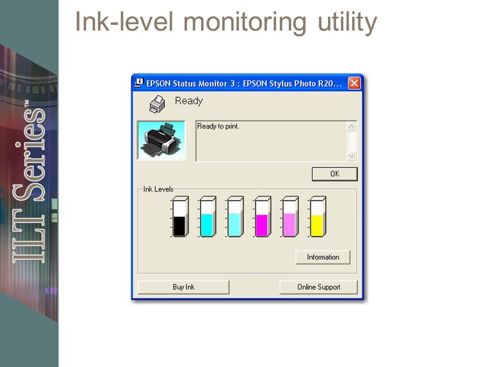 Ink-level monitoring utility