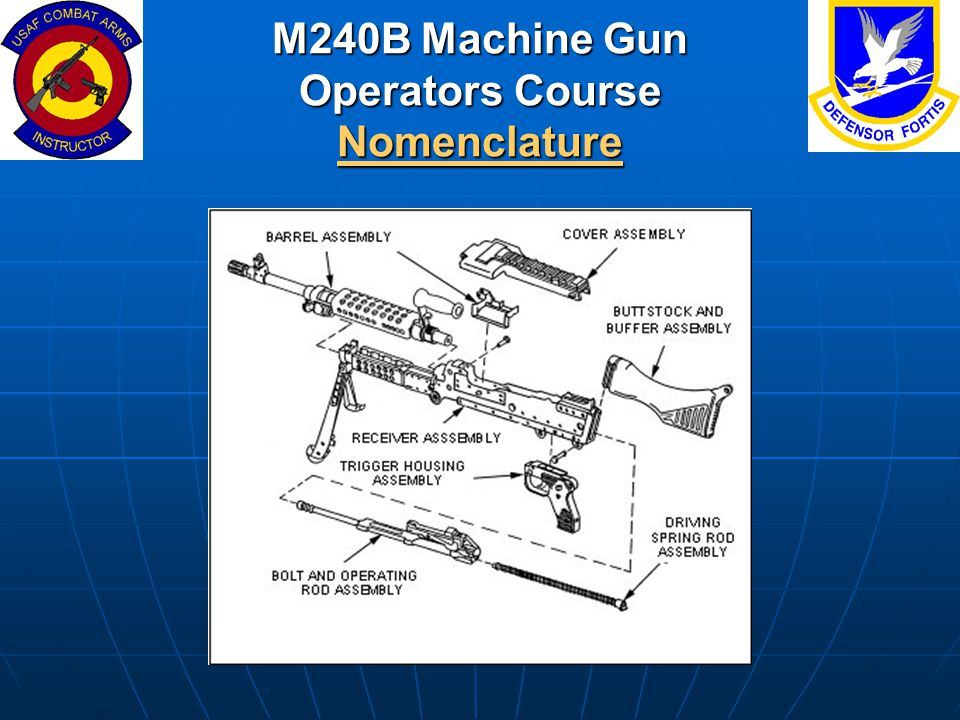 M240B Machine Gun Operators Course Nomenclature