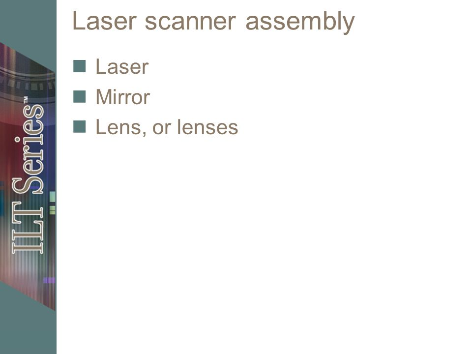 Laser scanner assembly Laser Mirror Lens, or lenses