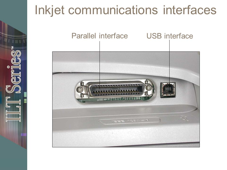 Inkjet communications interfaces Parallel interface USB interface