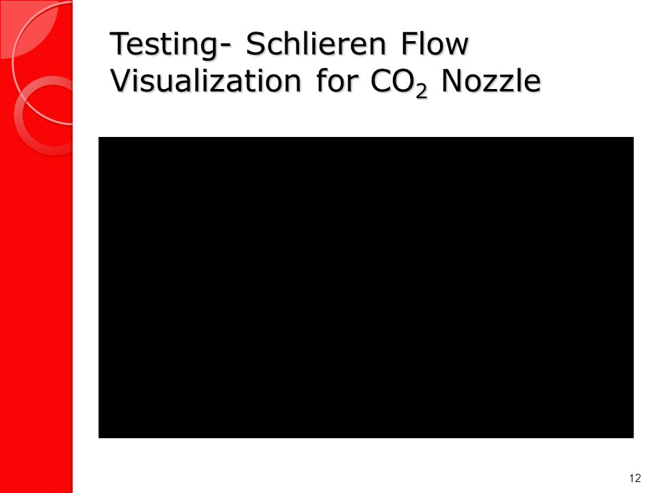 Testing- Schlieren Flow Visualization for CO 2 Nozzle 12