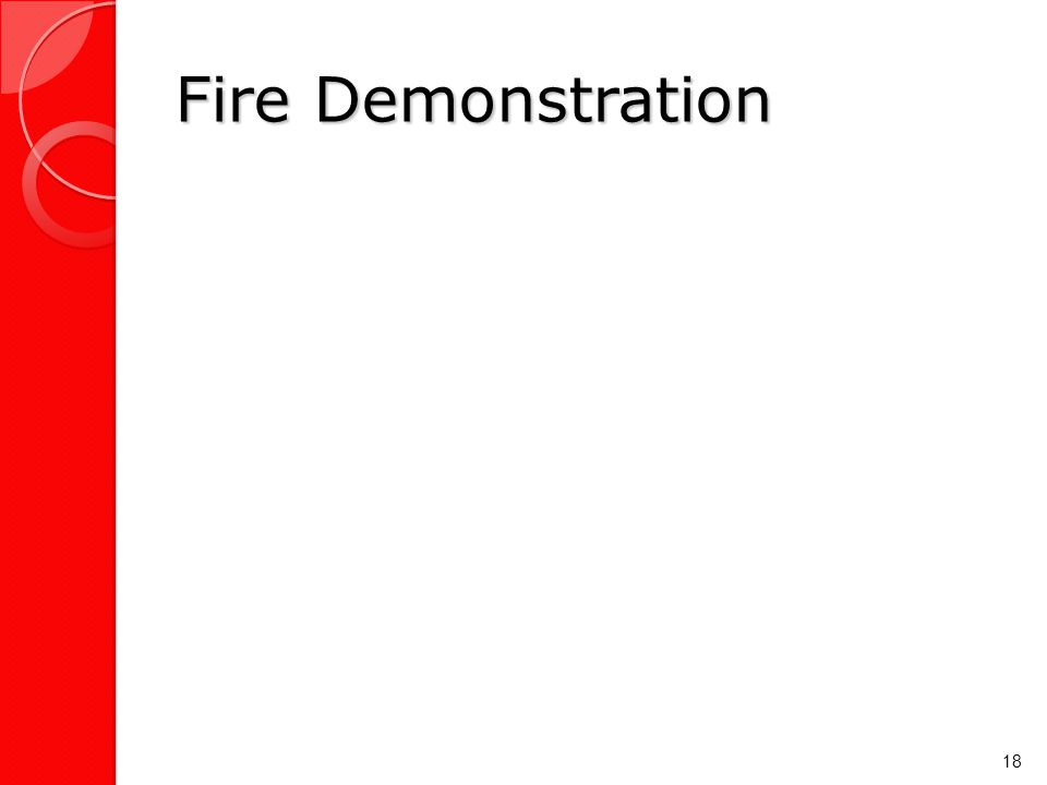 Fire Demonstration 18